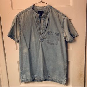 Urban Outfitters Chambray Denim Button Shirt